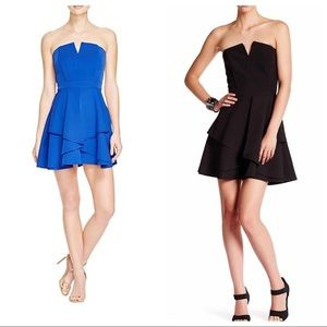 Adelyn Rae BLUE Strapless Fit & Flare Dress XS